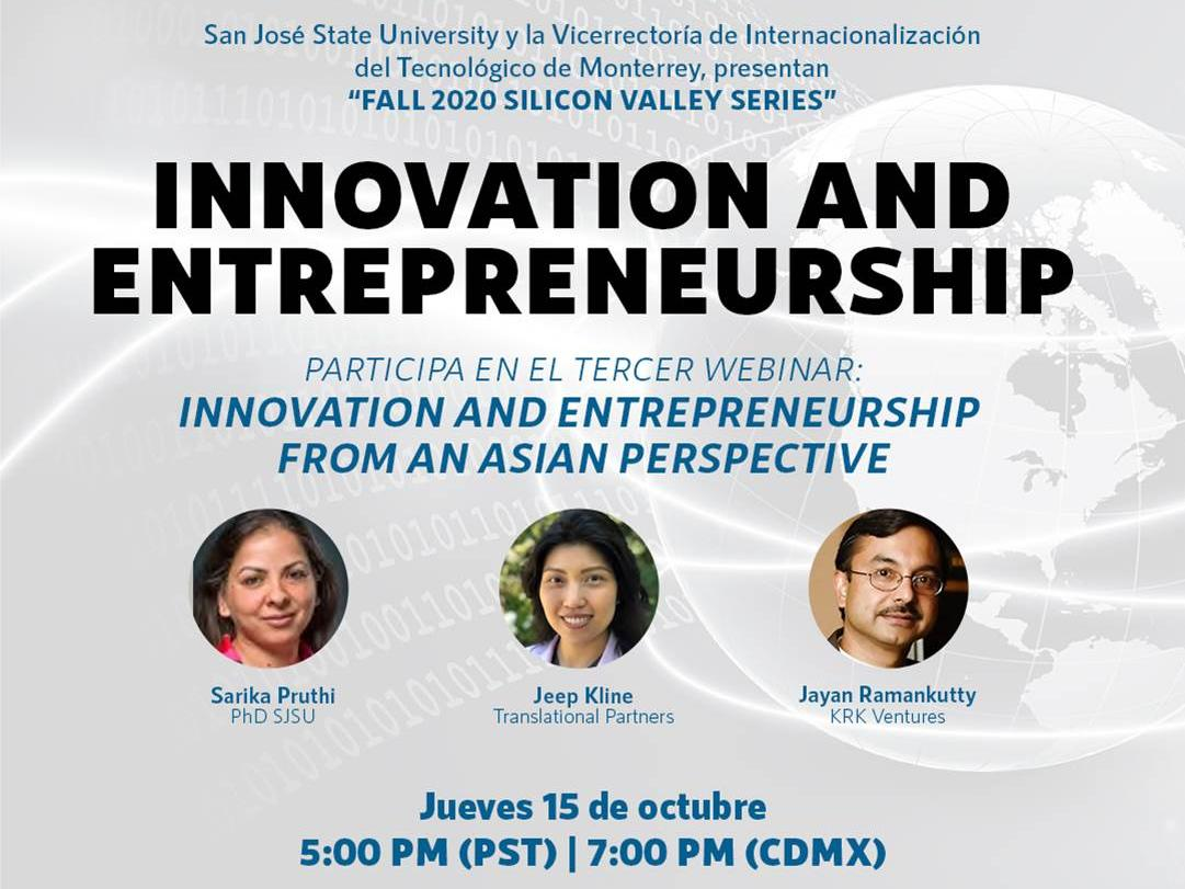 SILICON VALLEY SERIES: INNOVATION AND ENTREPRENEURSHIP