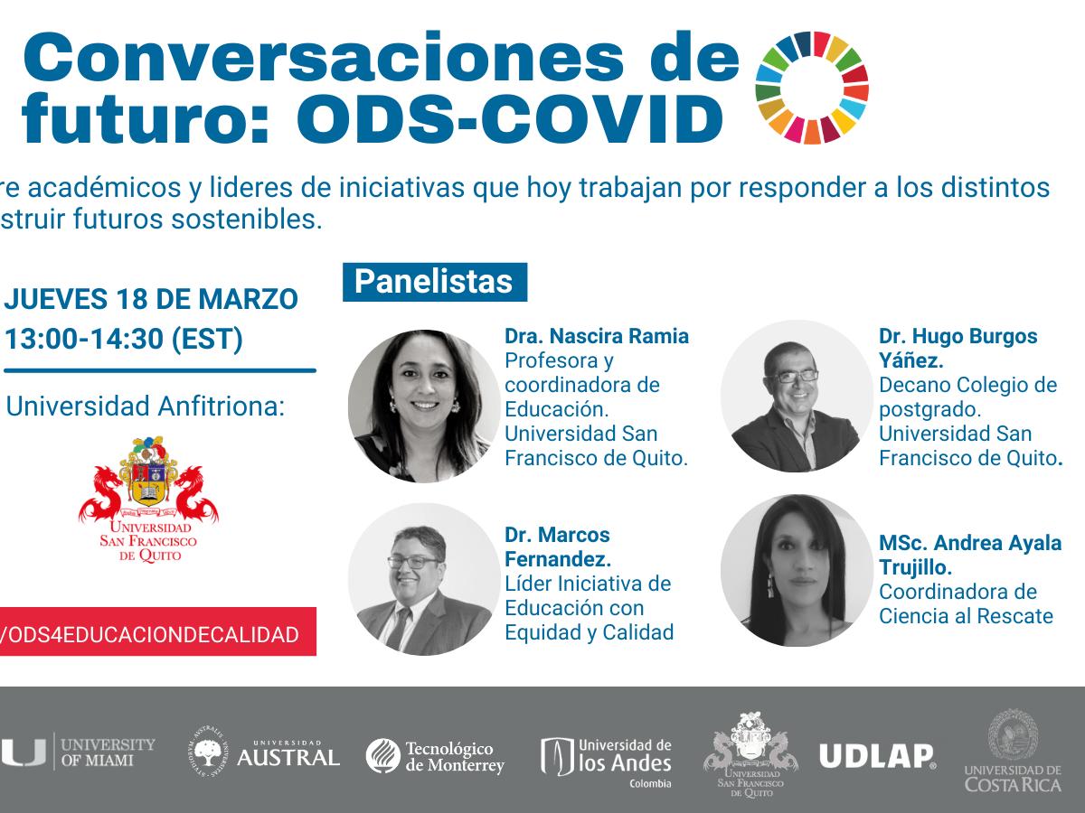 Conversaciones de Futuro: ODS-COVID. ODS 4 Educación de Calidad.