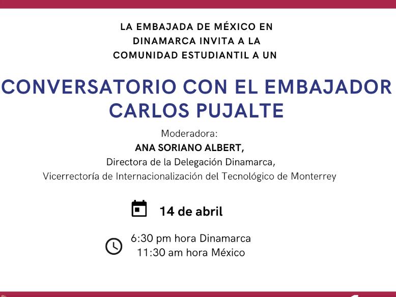 Conversatorio con el embajador Carlos Pujalte