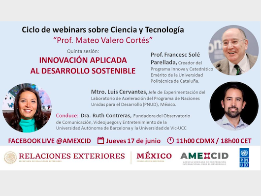"""Ciclo de webinars sobre ciencia y tecnología """"Prof. Mateo Valero Cortés"""""""