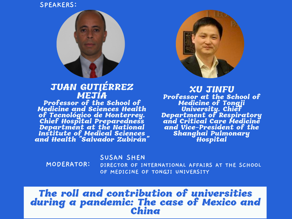 The roll and contribution of universities during a pandemic: The case of Mexico and China